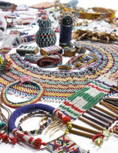 Lot of 49 Northern Nguni (Zulu, Swazi and Transvaal Ndebele) and Southern Nguni (Xhosa) Beadworks and Jewelry, South Africa