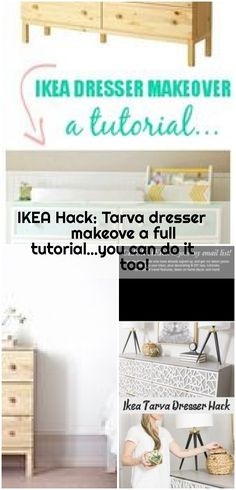 IKEA Hack Tarva dresser makeove a full tutorial&;you can do it too! IKEA Hack Tarva dresser makeove a full tutorial&;you can do it too! Ikea Dresser Makeover, Ikea Organization, Best Ikea, Canning, Ikea Ikea, Ikea Hacks, Search, Home Decor, Decoration Home
