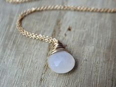 Moonstone Necklace In 14K Gold Fill