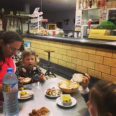 This tapas restaurant on the road from Sevilla to Ronda was pure surprise. We had to order another round as it was so delicious... to eat there at 8PM :-) #digitalnomad #travel #spain #overland #food #family #gurucamper #nomads #tapas #roadtrip #unforgetable