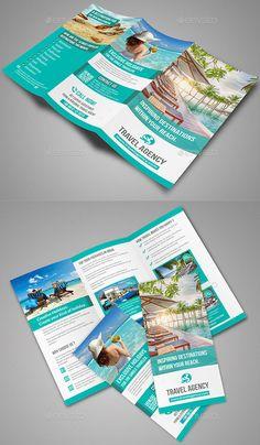 travel trifold brochure volume 1 template pinterest brochures