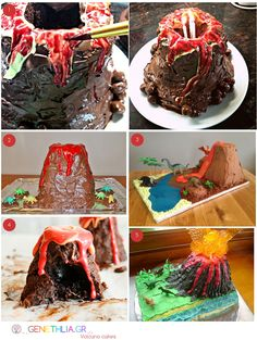5 Volcano Cake Tutorials!