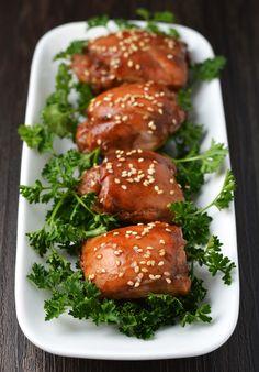 Sticky sesame chicken.  5 ingredients!