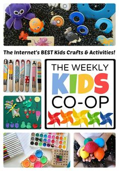Over 100 Kids Crafts and Activities from The Weekly Kids Co-Op - #kids #kidscrafts