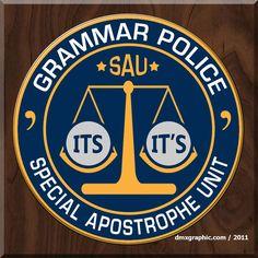 Grammar Police: Special Apostrophe Unit