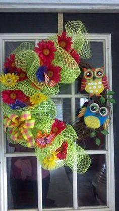This is so cute! -Owl wreath
