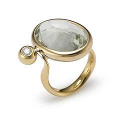 Sowon Joo..18k gold, diamond, green amethyst