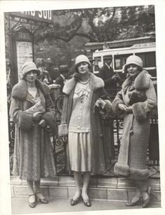 Need some inspiration on what to wear? Check out these ladies in Paris from the 1920s