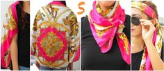 How to Wear Satin Scarf? Cover Ups, Neck Scarf, Bandana, Head Scarf, Belt, Arm Band, etc. @TheScarfFactory.ph