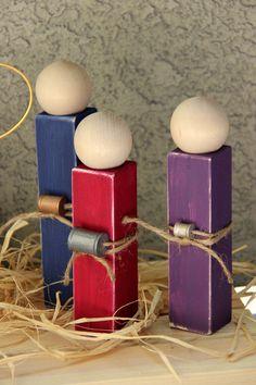Simple Distressed Wooden Nativity Set di ATreasureRedefined