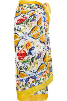 DOLCE & GABBANA Printed Cotton Pareo. #dolcegabbana #cloth #beachwear
