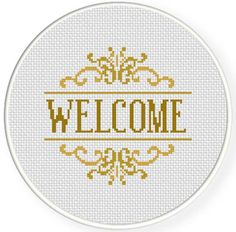 FREE for May 1st 2014 Only - Welcome Cross Stitch Pattern