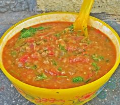 Mexican Red Lentil Soup - Foodomania