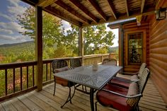 Outdoor dining area with magnificent views