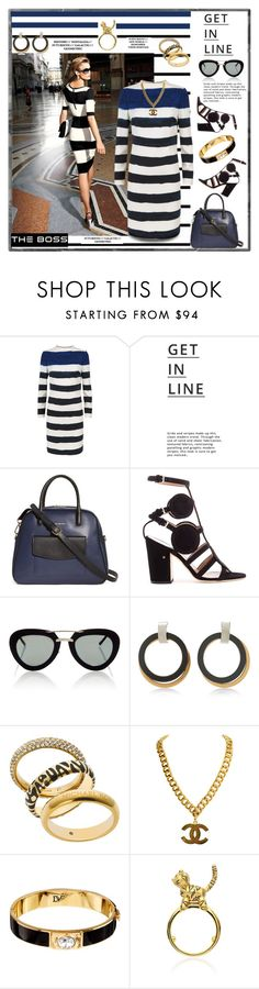 """Painted Striped Dress"" by affton ❤ liked on Polyvore featuring Forum, Jaeger, Lipsy, Vera Bradley, Laurence Dacade, Quattrocento, Marni, Michael Kors, Diane Von Furstenberg and Lauren X Khoo"