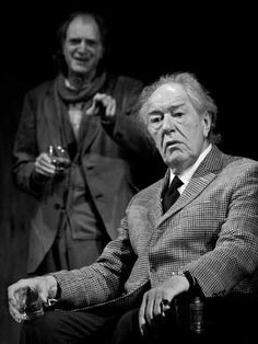 "David Bradley & Michael Gambon in Harold Pinter's ""No Man's Land"" at the Duke of York Theatre, London, The Play was hard work but memorable. Theatre Stage, Theater, Michael Gambon, No Mans Land, Duke Of York, Playwright, Artist Life, Hard Work, Over The Years"