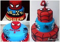 Festa homem aranha simples com copos personalizados spiderman fotos de bolo homem aranha decorado altavistaventures Gallery