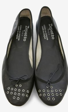Repetto and Comme des Garcons Black Ballet Flats