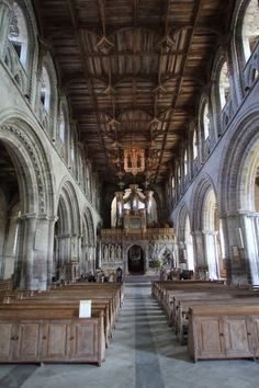 St. David's Cathedral in the town of St. David's, Wales, UK. built in 1181