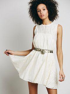 New Free People Tu-es-la Lace Mini Dress at Free People Antique Ivory Size Small #FreePeople #Versatile