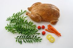 Whole Roasted Turkey With Garnishes Food for American by pippaloo