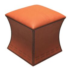 I pinned this Cleo Leather Stool in Orange from the Peninsula Home event at Joss and Main!