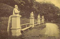 Kolozsvár:Hét vezér szoborcsoport (Árpád,Lehel,Örs...),1908-ban. Homeland, Statues, History, Painting, Historia, Painting Art, Effigy, Paintings, Painted Canvas