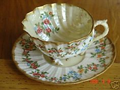 Decorated Neptune Cup and Saucer ~ BEAUTIFUL:)