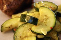 Florina Pork & Zucchini - easy one pan meal.