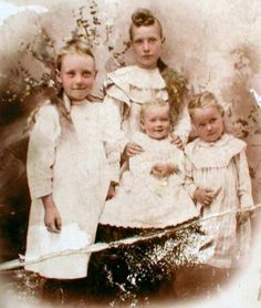 1896...Grandmother with her three younger sisters....Bess, Mary Alice, Selma, Jesse