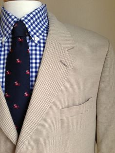 Men - Brooks Brothers - Preppy - 3-Button - Cotton - Sports Coat -- 44L - 44XL on Etsy, $99.37