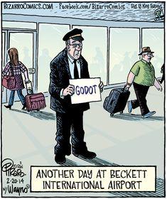 Una giornata come un'altra all'aeroporto Beckett...
