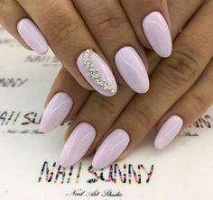 Pink Chrome Nails, Pink Nails, Gel Nails, Nail Polish, Bridal Nails, Wedding Nails, Simple Nail Designs, Nail Art Designs, Almond Acrylic Nails