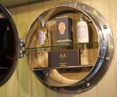 Chadder U0026 Co Porthole Mirror Cabinet, Filled With The Stunning Penhaligons  Soaps And Fragrances.