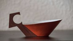CUPOF T  cuivre/bois DUBREUIL DESIGN collection Handmade
