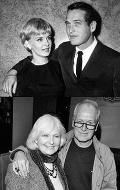 "Paul Newman & Joanne Woodward, probably the best Hollywood couple to look up to as they took ""til death do us part"" seriously. Paul Newman and Joanne Woodward wed January 1958 in Las Vegas. Hollywood Couples, Celebrity Couples, Hollywood Stars, Classic Hollywood, Old Hollywood, Paul Newman Joanne Woodward, The Embrace, Actrices Hollywood, Famous Couples"