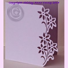Shirley's Cards: Flower Card Freebie. SVG and GSD. *