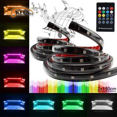 2019 2x150cm Million Color Wireless LED Glow'S Car Truck Bed Tailgate Underbody Side Marker LED Light Bar Kit 5050 45SMD IP67 From Sara1688, $84.42 | DHgate.Com