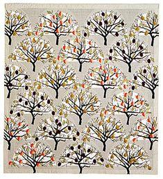 """""""Peach, Pear, Plum"""" - quilt by Elizabeth Brimelow"""