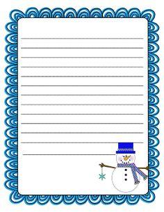 [ Literacy Minute Snowman Writing Paper Freebie Teacher Ideas ] - Best Free Home Design Idea & Inspiration Work On Writing, Teaching Writing, Writing Activities, Snow Activities, Teaching Ideas, Lined Writing Paper, Writing Papers, Writing Prompts, Christmas Writing