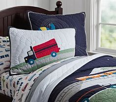 Nathan's room, travel Brody Quilted Bedding #pbkids