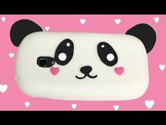 Cómo hacer una funda para móvil de silicona de Panda - YouTube