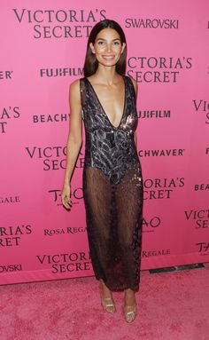 Lily Aldridge -- VSFS Afterparty -- After putting away their wings, the Victoria's Secret models headed to Tao Downtown. \\ #VSFS #VSFS_2015 #VSFashionShow2015