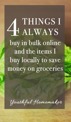 How to save money buying groceries in bulk without increasing your grocery budget. #gettingoutofdebt #frugalliving #savingmoney