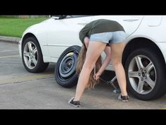 A Women's Guide To Changing A Tire Change, Youtube, Youtubers, Youtube Movies