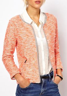 This bouclé spring jacket highlights your upper half. Where to buy it: http://blog.womenshealthmag.com/beauty-style-buzz/jackets-for-women/