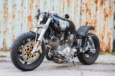 Yamaha XV1100 custom, The Dragger by Dogma Motorcycles, front left