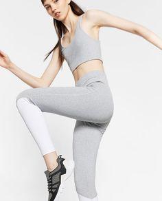 ZARA - WOMAN - COLOR-CONTRAST LEGGINGS