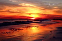 """Photo of the Week : 2014-04  """"Orange Wash"""" taken December 7, 2013 at Point Lookout Town Beach, Point Lookout, NY with iPhone5"""