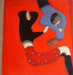 Stanze     2003     Acrylic on canvas     70 x 70 cm     Private collection           © Lorenzo Mattotti
